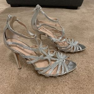 Silver Sparkly Shimmer Heels Prom Homecoming